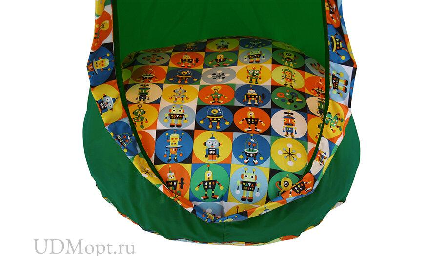 Детское подвесное кресло Polini kids Кокон, зеленый оптом и в розницу