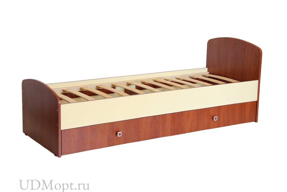 Кровать детская Фея 1400 орех-лимонный оптом и в розницу