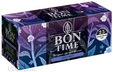 «Bontime», чай черный с ароматом бергамота, 25 пакетиков, 50г оптом и в розницу
