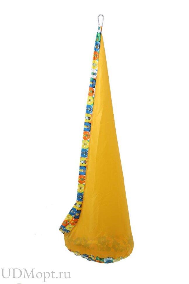 Детское подвесное кресло Polini kids Кокон,желтый оптом и в розницу