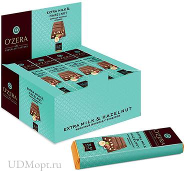 «OZera», шоколадный батончик Extra milk & Hazelnut, 42г оптом и в розницу