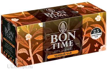 «Bontime», чай черный, 25 пакетиков, 50г оптом и в розницу