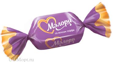 Конфеты жевательные «Мэлори» со вкусом тоффи (упаковка 1кг) оптом и в розницу