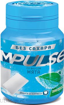 «Impulse», жевательная резинка со вкусом «Мята», 56г оптом и в розницу