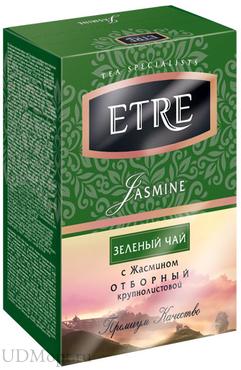 «ETRE», jasmine чай зеленый с жасмином, крупнолистовой, 100г оптом и в розницу