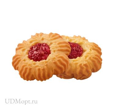 Печенье «Курабье с вишнёвым джемом», сдобное (коробка 4кг) оптом и в розницу