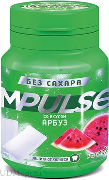 «Impulse», жевательная резинка со вкусом «Арбуз», 56г оптом и в розницу