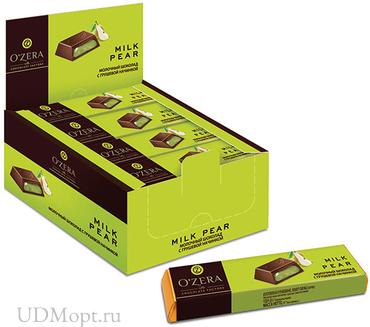 «OZera», шоколадный батончик Milk Pear, 50г оптом и в розницу