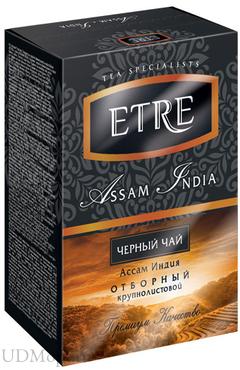 «ETRE», assam India чай черный индийский, крупнолистовой, 100г оптом и в розницу
