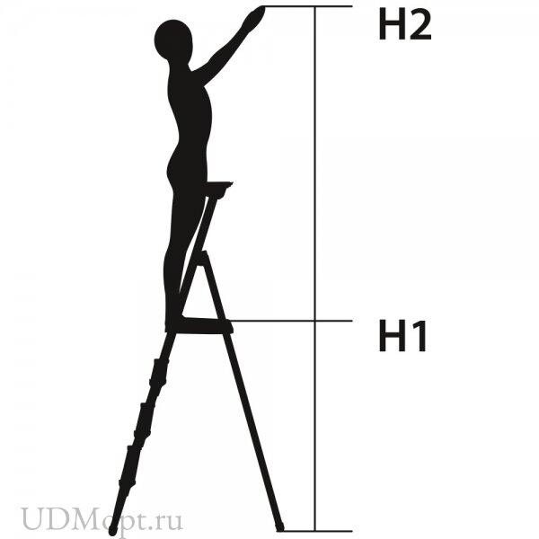 Стремянка металлическая облегченная оптом и в розницу