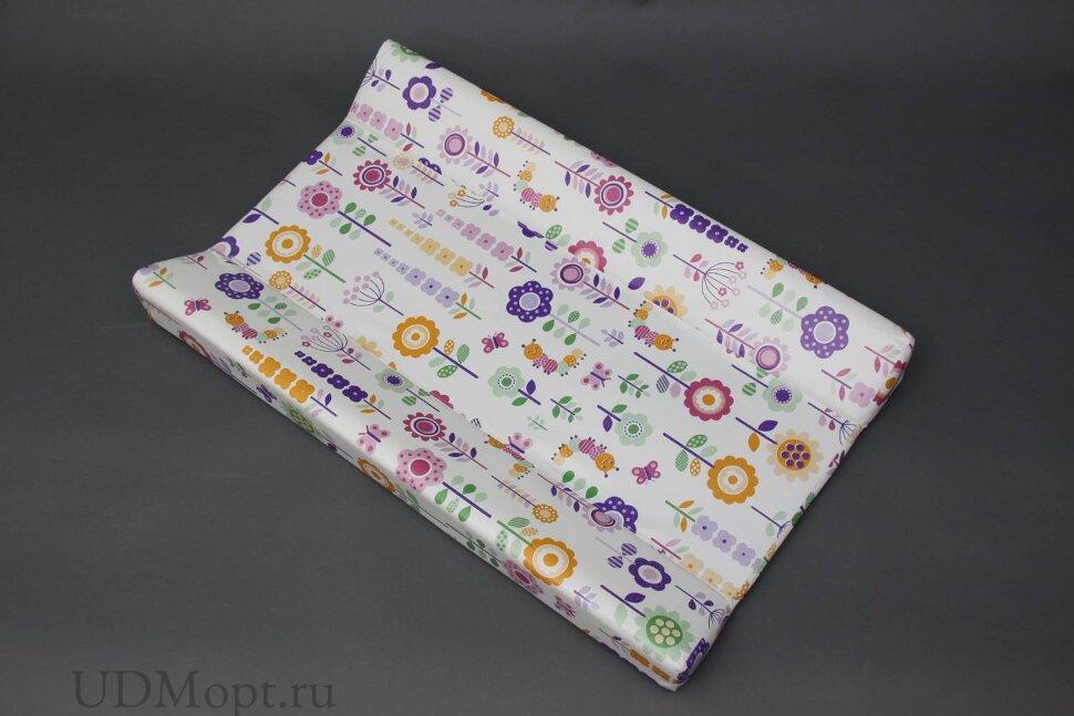 Доска пеленальная для кроватей Polini kids Яркий луг, с фиксатором оптом и в розницу