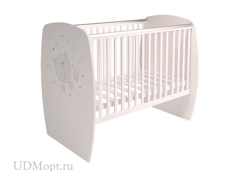 Кровать детская Polini kids French 700, Teddy, белый оптом и в розницу