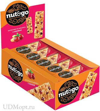Батончик Nut N Go из арахиса и клюквы, 42г оптом и в розницу