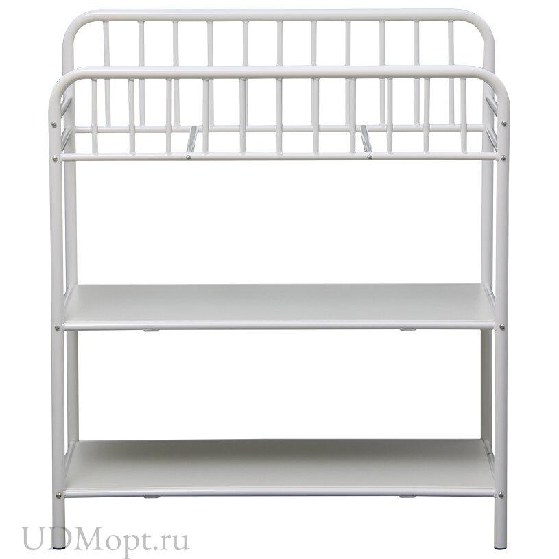 Столик для пеленания Polini kids Vintagе 1180 металлический, белый оптом и в розницу