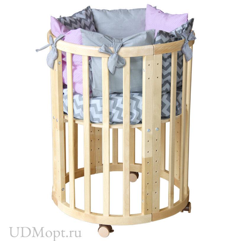 Кроватка детская Polini Kids Simple 911, натуральный оптом и в розницу