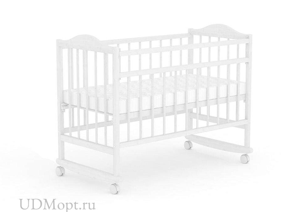 Кровать детская Фея 204 белый оптом и в розницу
