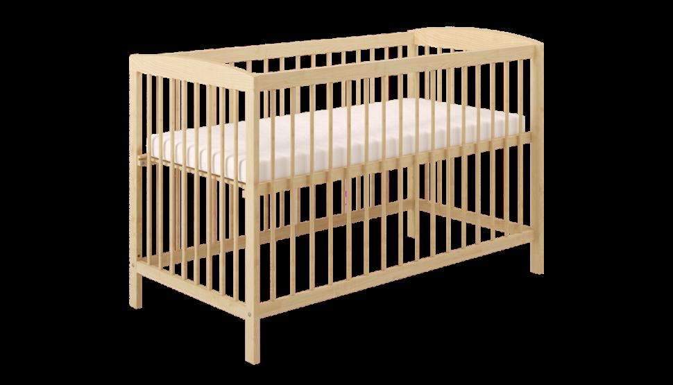 Кроватка детская Polini kids Simple 101, натуральный оптом и в розницу