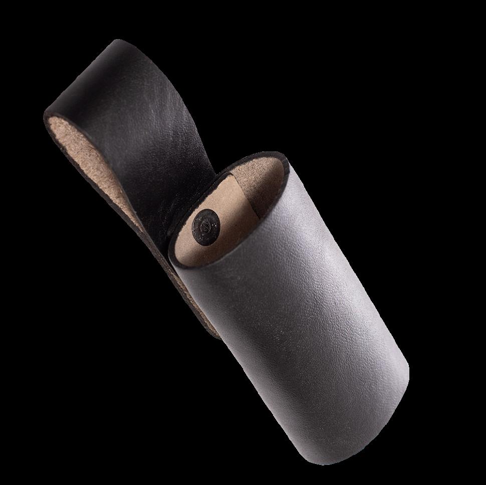 Чехол под дубинку с фиксатором / кожа / черный оптом и в розницу