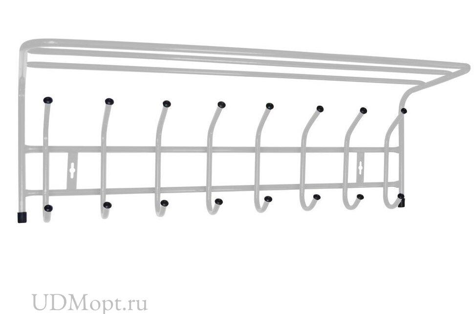Вешалка с полкой настенная металлическая 8 оптом и в розницу