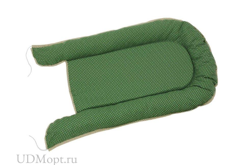 Бортик детский Гнездышко Polini kids Горошек, зеленый оптом и в розницу
