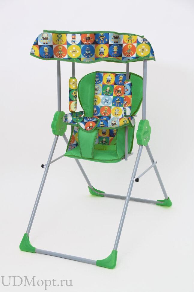 Качели Фея Малыш с тентом, зеленый оптом и в розницу