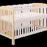 Кроватка детская Polini kids Simple 101, натуральный-белый оптом и в розницу