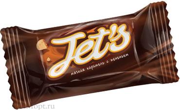 Конфета Jet`s с печеньем (упаковка 1кг) оптом и в розницу