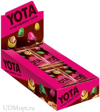 «Yota», драже арахис в молочно-шоколадной и сахарной глазури, 40г оптом и в розницу