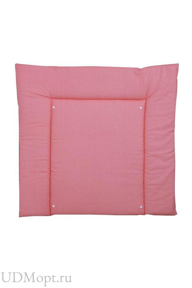 Доска пеленальная двухсторонняя Polini kids Монстрики, со съемным вкладышем, розовый оптом и в розницу