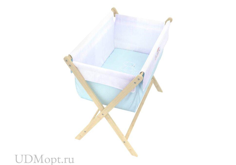 Кровать детская Polini kids Колыбель, голубой оптом и в розницу