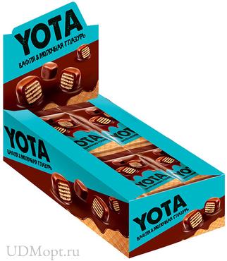 «Yota», драже вафля в молочно-шоколадной глазури, 40г оптом и в розницу