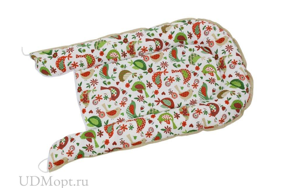 Бортик детский Гнездышко Polini kids Кантри, зеленый оптом и в розницу