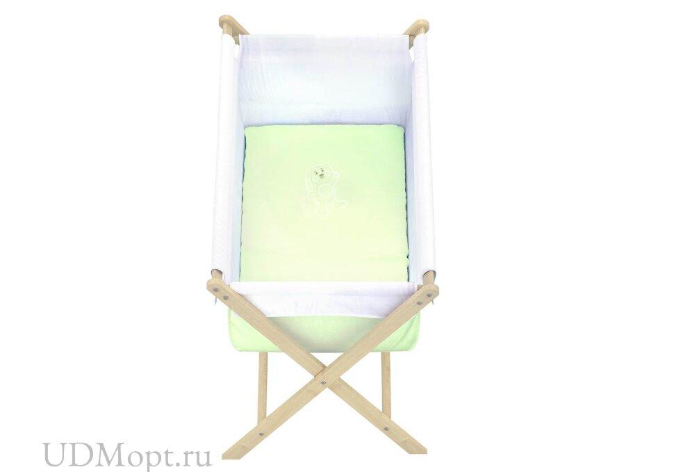 Кровать детская Polini kids Колыбель, зеленый оптом и в розницу