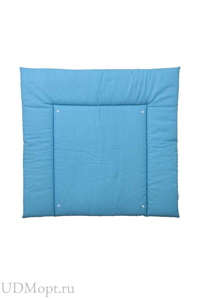 Доска пеленальная двухсторонняя Polini kids Зигзаг, со съемным вкладышем, серый-голубой оптом и в розницу