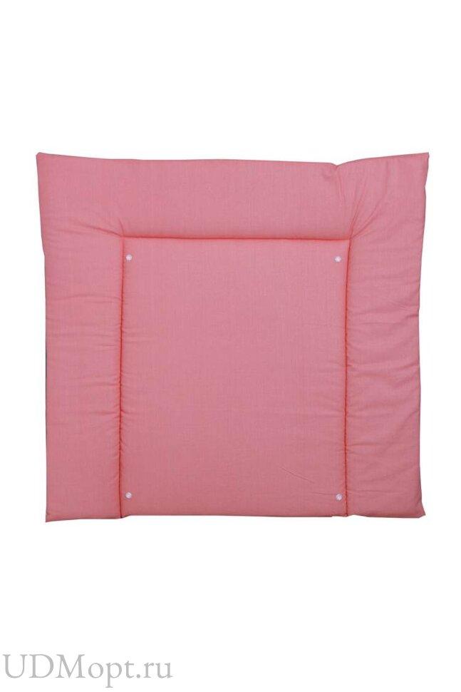 Доска пеленальная двухсторонняя Polini kids Зигзаг, со съемным вкладышем, серый-розовый оптом и в розницу