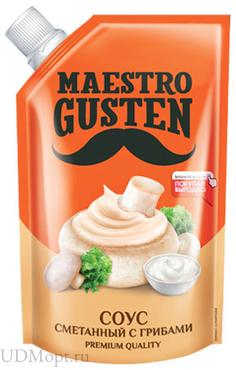 «Maestro Gusten», соус «Сметанный с грибами», 196г оптом и в розницу