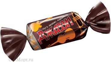 Конфета «Джаззи» нуга, карамель и арахис (упаковка 1кг) оптом и в розницу