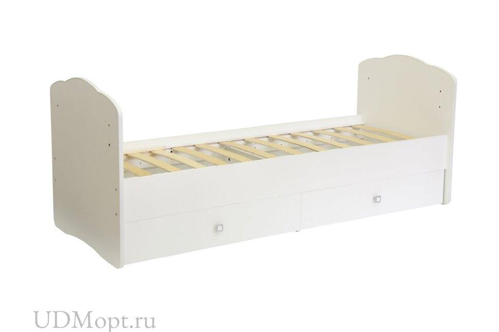 Кровать детская Фея 2100 белый оптом и в розницу