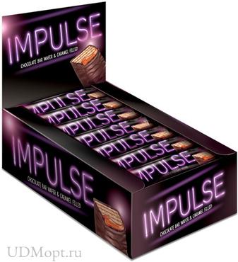 Батончик шоколадный «Импульс», 16г оптом и в розницу