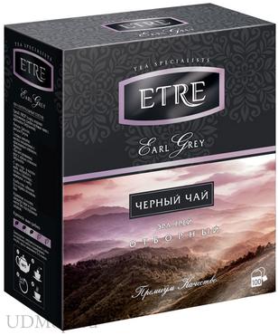 «ETRE», earl Grey чай черный с бергамотом, 100 пакетиков, 200г оптом и в розницу