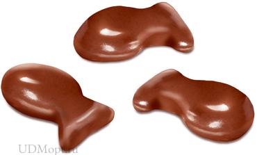 Драже «рыбка» в молочно-шоколадной глазури (коробка 1кг) оптом и в розницу
