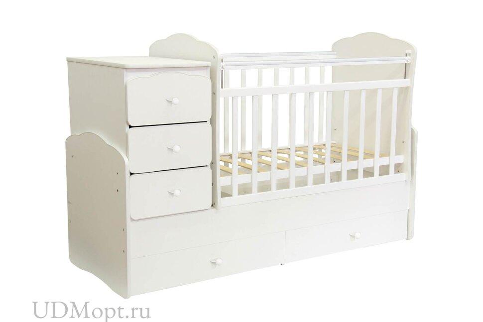 Кровать детская Фея 2100 белый М оптом и в розницу