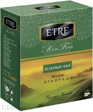 «ETRE», mao Feng чай зеленый, 100 пакетиков, 200г оптом и в розницу
