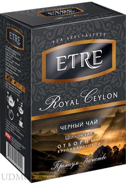 «ETRE», royal Ceylon чай черный цейлонский крупнолистовой, 100г оптом и в розницу