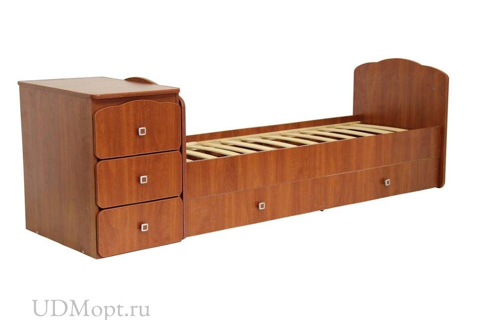 Кровать детская Фея 2100 орех оптом и в розницу