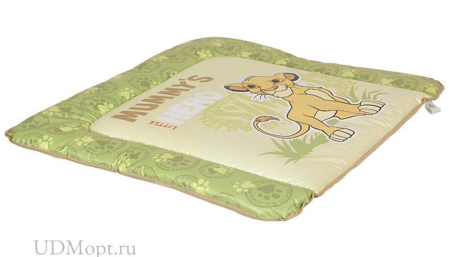 Доска пеленальная мягкая Polini Kids Disney baby Король Лев 77х72, салатовый оптом и в розницу