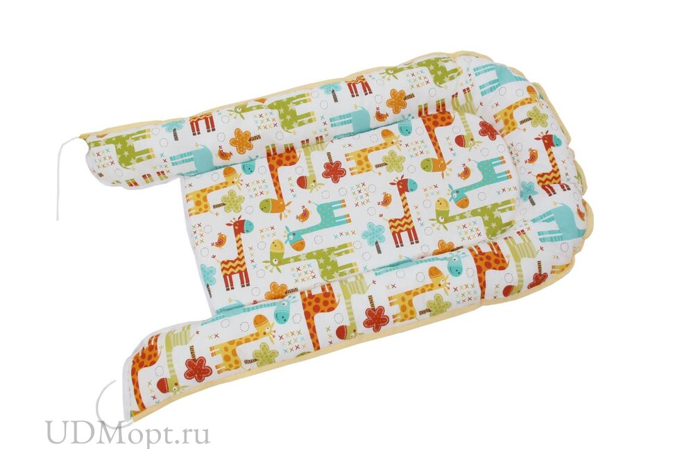 Бортик детский Гнездышко Polini kids Жирафы, желтый оптом и в розницу