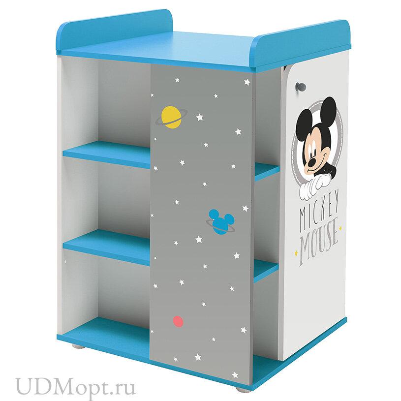 """Комод Polini kids Disney baby 2090 """"Микки Маус"""" с дверью, белый-серый оптом и в розницу"""