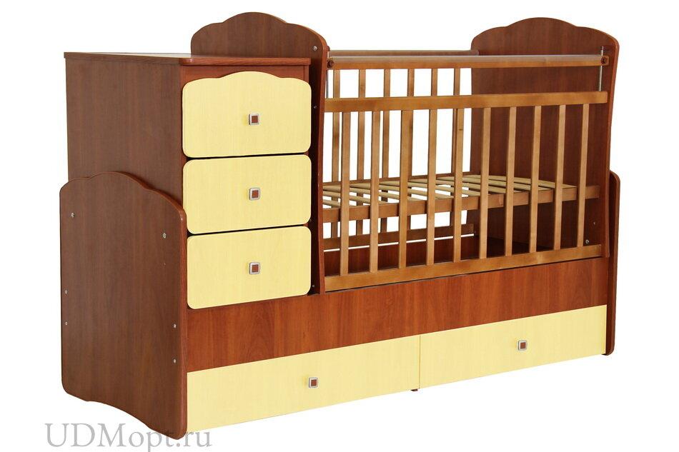 Кровать детская Фея 2100 орех-лимонный оптом и в розницу