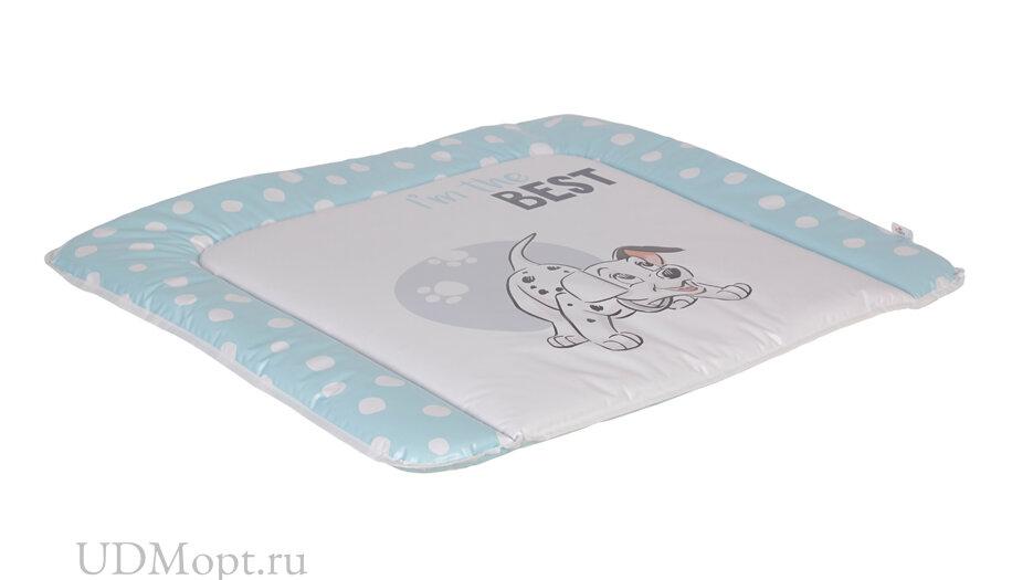 Матрас для пеленания Polini Kids Disney baby 101 Далматинец 77х72, синий оптом и в розницу